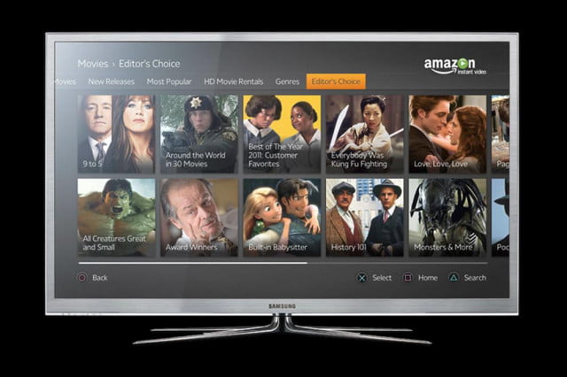 Amazon Prime Interface