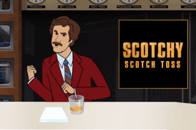 anchorman  scotchy scotch toss mobile game