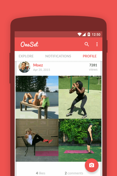 oneset the vine for fitness onestep android