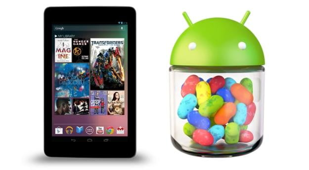 Android 4.1 Jelly Bean logo and Nexus 7