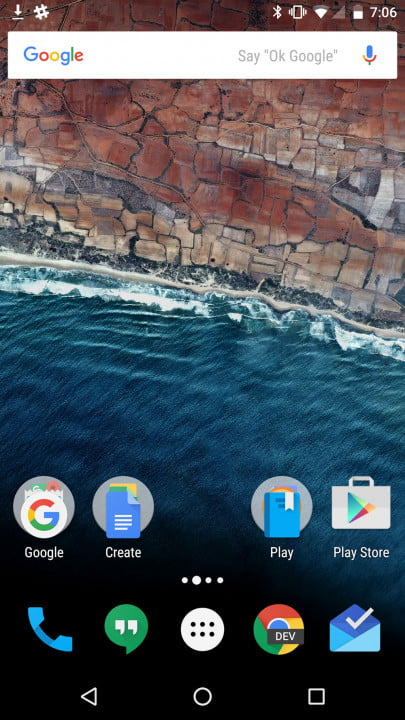 android  marshmallow review home screen