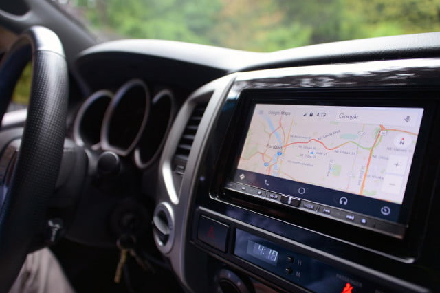 Android Auto System Map Screen