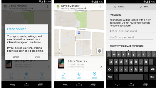 Android Device Manager Screenshots