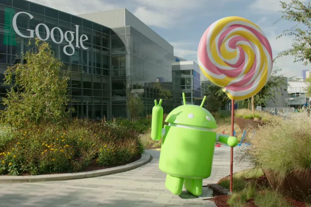 android  lollipop update news statue