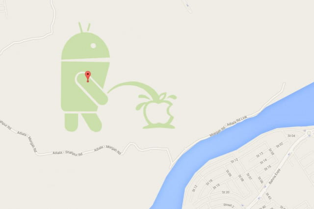 google suspends map maker news android pee apple logo