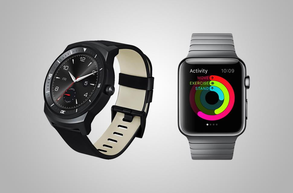 Android Wear versus Apple Watch 2