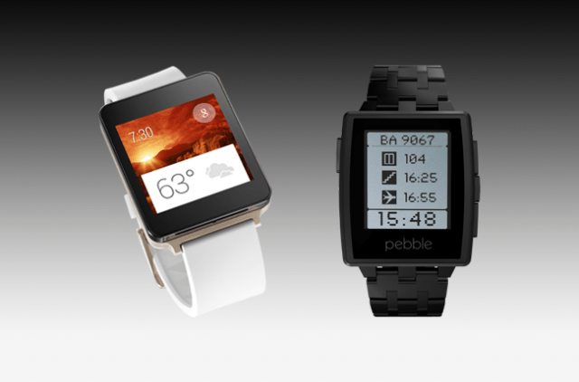 android wear vs pebble