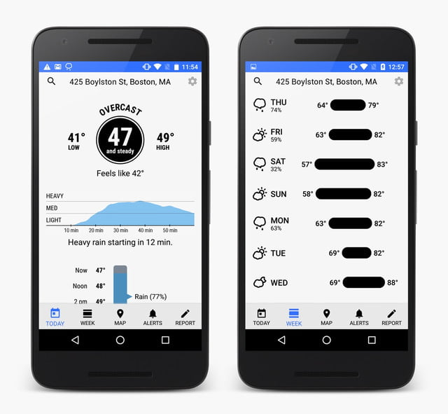 dark sky weather app android