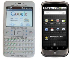 Android device before and after iPhone