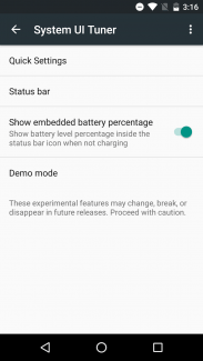 Android_Marshmallow Battery Percentage