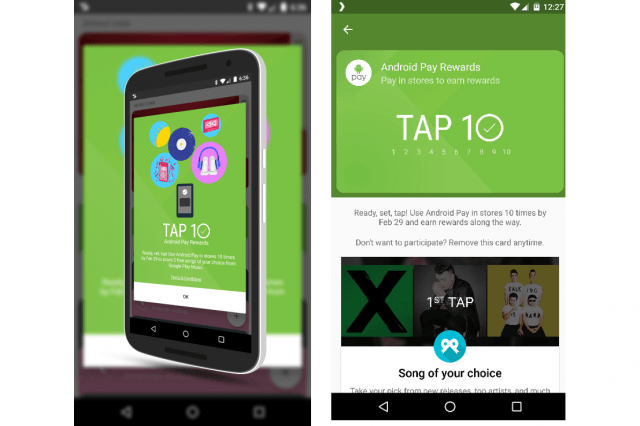 android pay tap  rewards program news screenshot leak a
