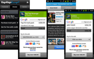 android market in-app purchases