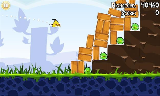 angry birds screenshot windows phone 7 game