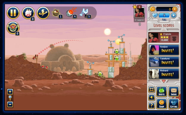 angrybirds star wars facebook app