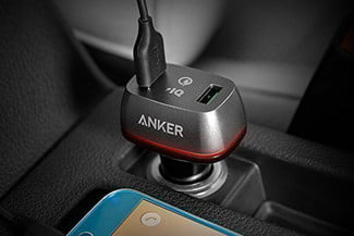 Anker Quick Charge 2.0 36W Dual USB Car Charger, PowerDrive+ 2 Use Image
