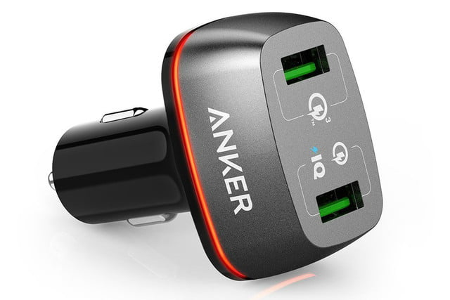 anker quick charge car charger deal  off