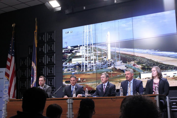 boldly go social media fan gone post selflies the pre flight press conference  one day before antares lifts off
