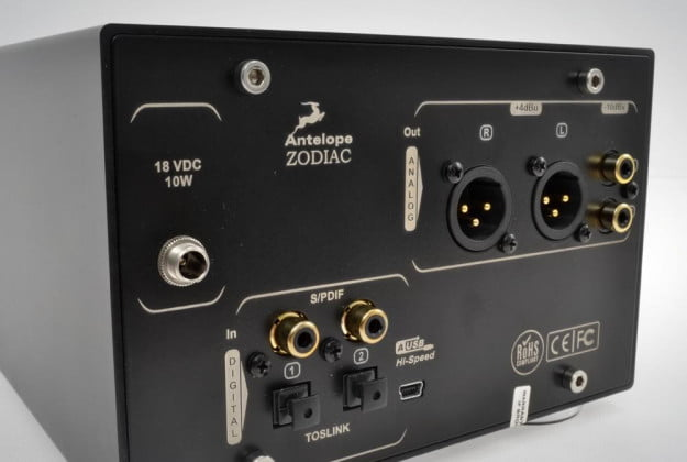 Antelope Audio Zodiac Review rear inputs angle