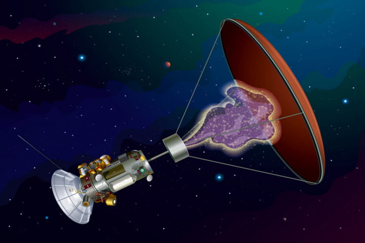 Artist rendition of Jackson and Howe's antimatter probe