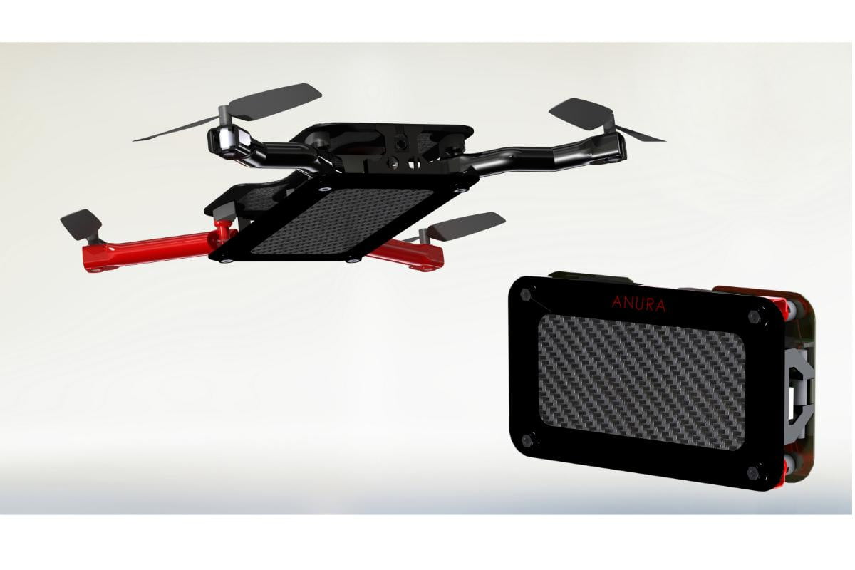 anura pocket sized foldable flying camera drone can take wherever go