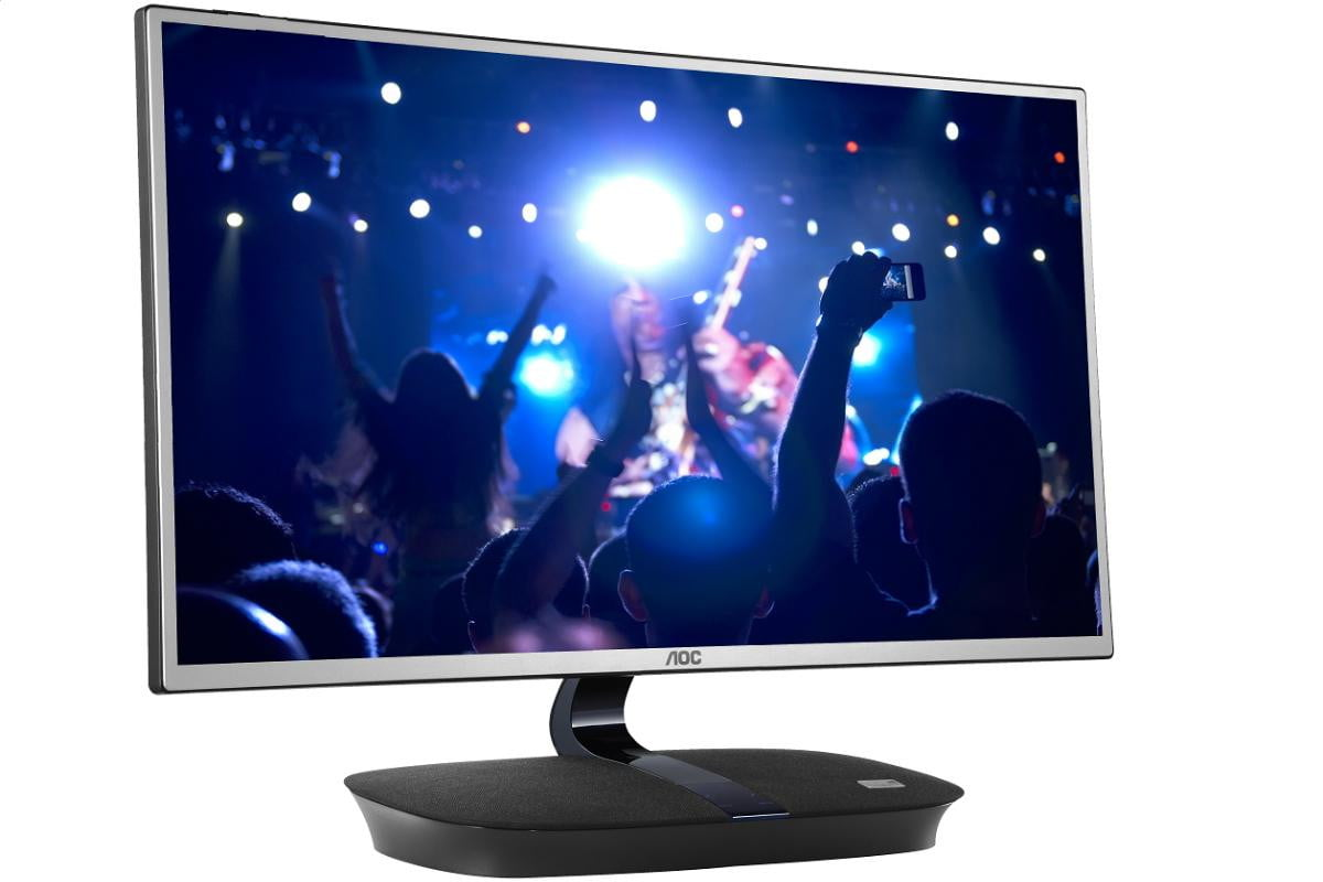 aoc reveals  inch p ips monitor with two w onkyospeakers built in