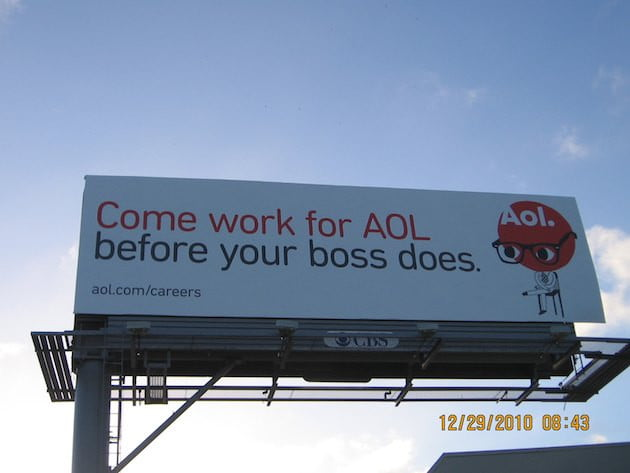 AOL billboard