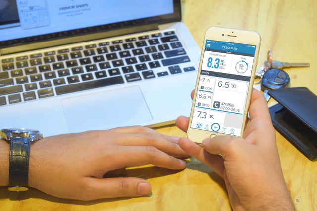 trequant tremors wearable patients app
