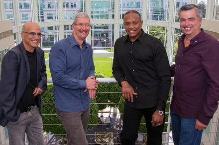 apple buys beats official dr dre tim cook
