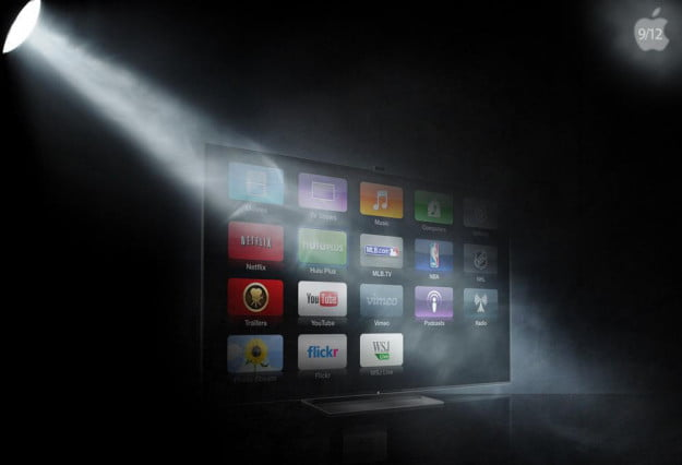 apple lcd led tv announcement icons