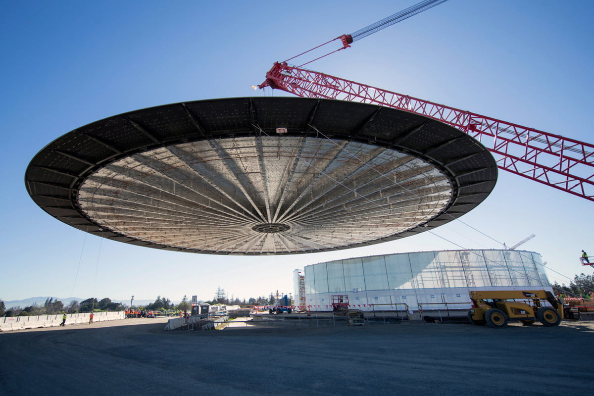 apple spaceship campus update theater