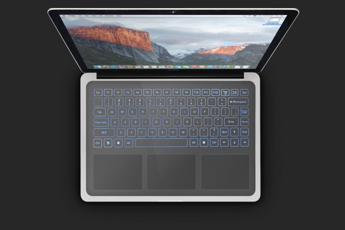 apple patent touchpad configurable touch surface v