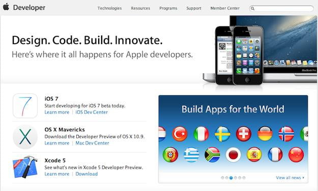 apple developer site
