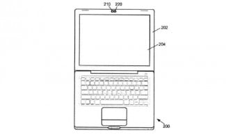 Apple's dual-camera patent. Note that the illustration is of laptop computer, but could be used in a mobile device.