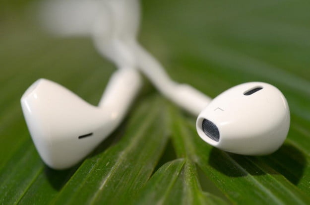 Apple Earpods headphones top