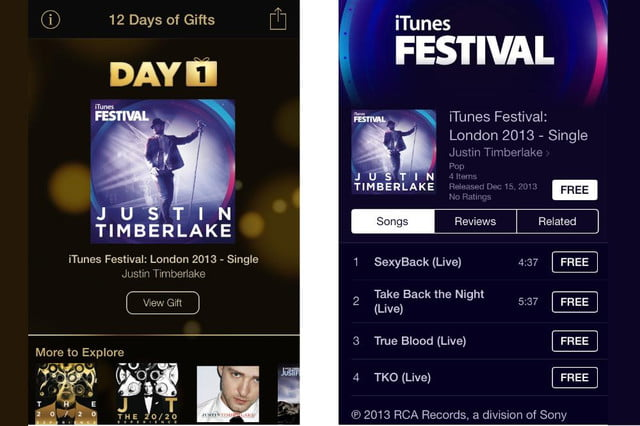 apple  days of gifts freebies