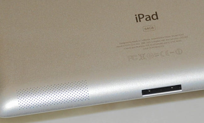 iPad 2 speakers