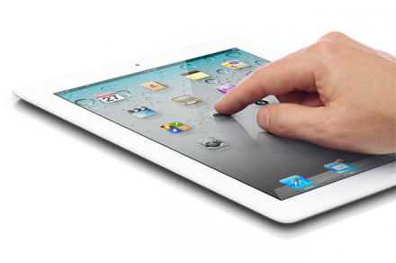 White Apple iPad 2 Navigation