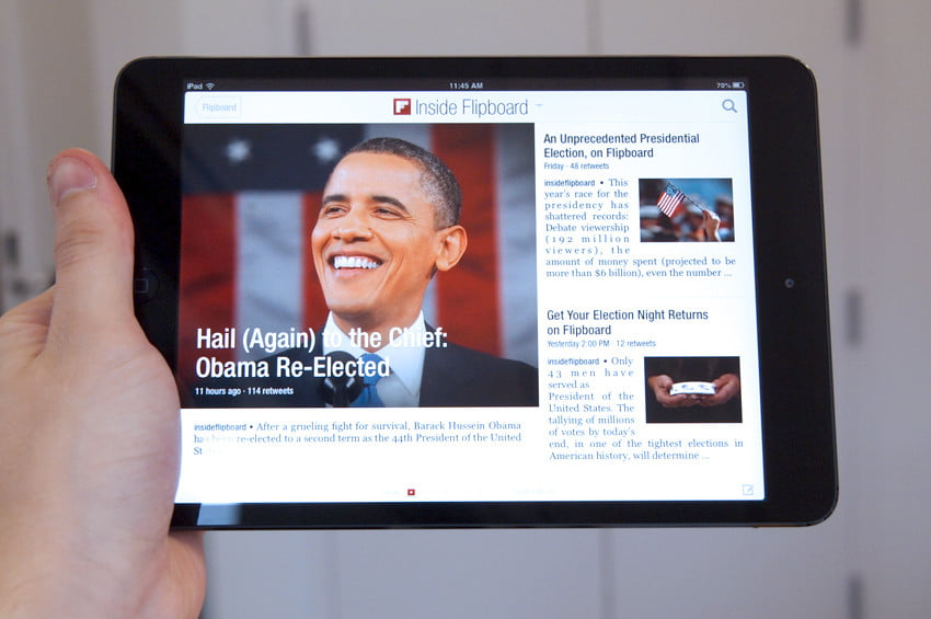 Apple iPad Mini review flipboard iOS tablet