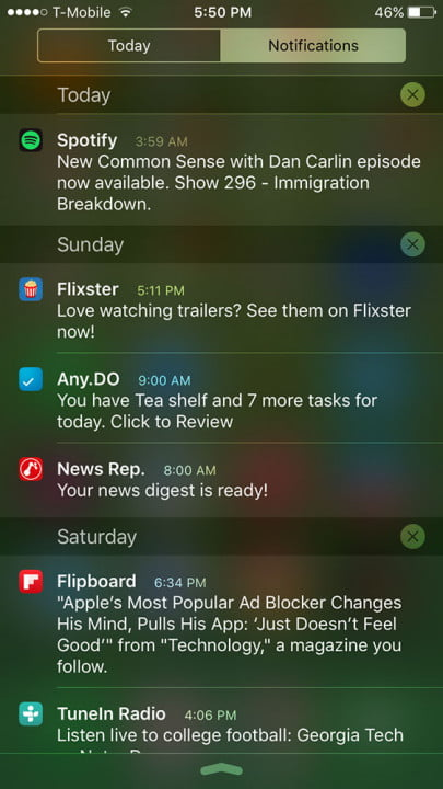 apple iphone  s review screenshot notifications