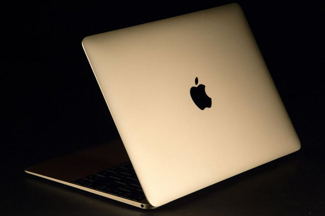 Apple MacBook Gold 2015 back angle