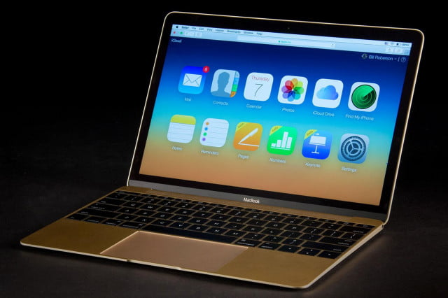 Apple MacBook Gold 2015 front angle