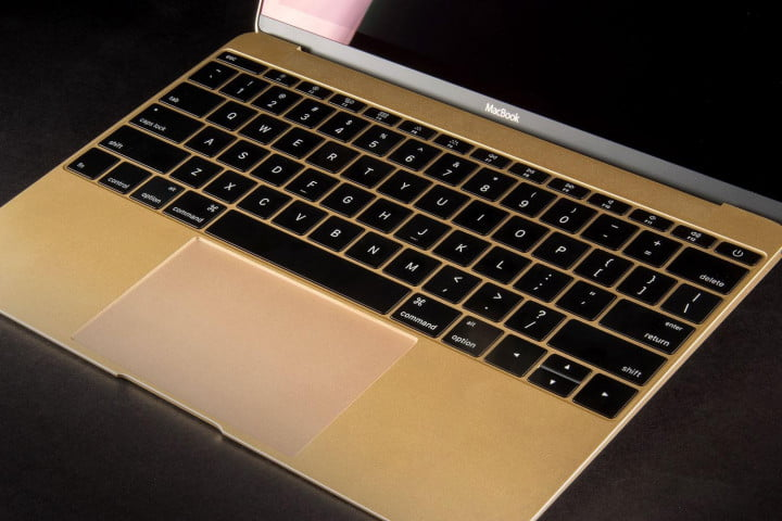apple macbook review gold  keyboard full