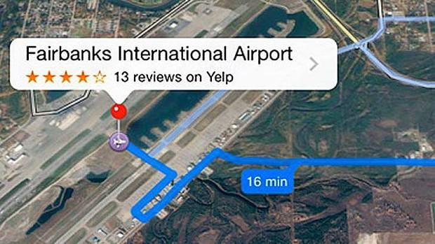 apple maps airport