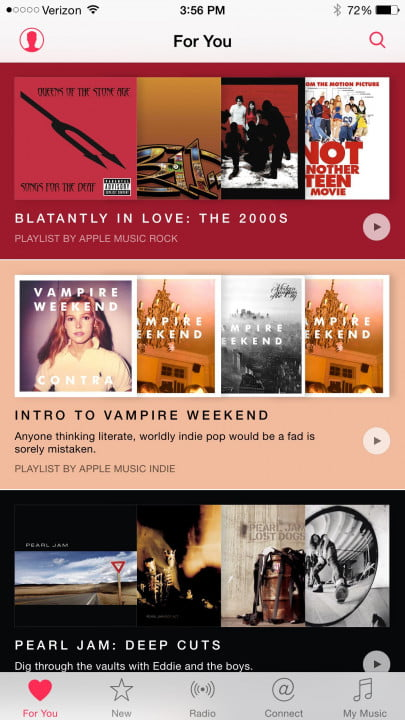 apple music review iphone  plus screen
