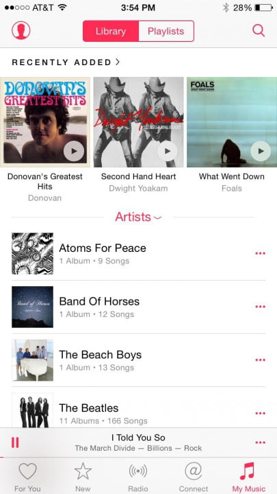 apple music review iphone  screen