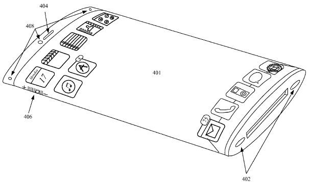 Apple patent wrap around display