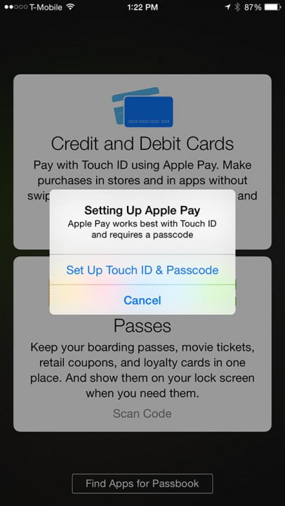 apple pay hands on screenshot setting up