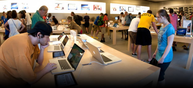 Apple retail store profits