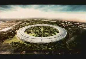 apple wants to build giant spaceship campus in cupertino space closeup