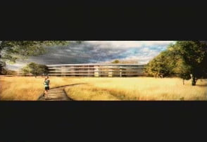 apple wants to build giant spaceship campus in cupertino space jogging trail